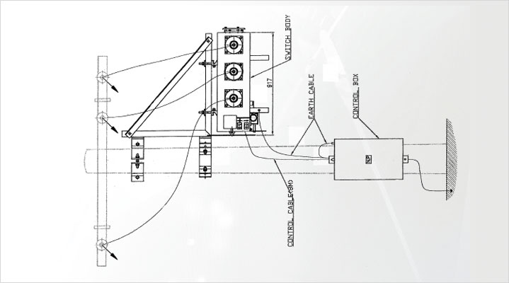 SF6 Pole Mounted Gas Switches Setting drawing
